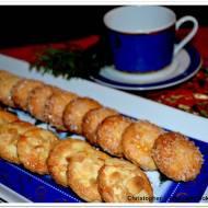 Ciasteczka półkruche z cukrem i migdałami