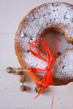 Ciasto kawowe z orzechami, czekoladą i gruszkami