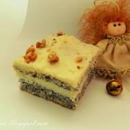 Makowo-kokosowe ciasto na bazie białek