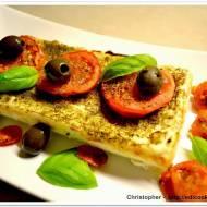 Pieczona ricotta z pieczonymi pomidorami