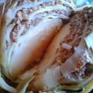 PRZEPIS - Pieczona główka kapusty z mięsem mielonym