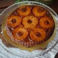 Peanapple upsidedown cake, ananasowe ciasto do góry nogami