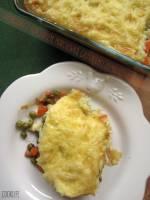 Pożywna zapiekanka z kurczakiem i ziemniaczanym puree
