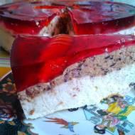 PRZEPIS - Jagodowy sernik na zimno z żelkowymi dżdżownicami