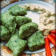 Zielone kopytka- szpinakowe ;)