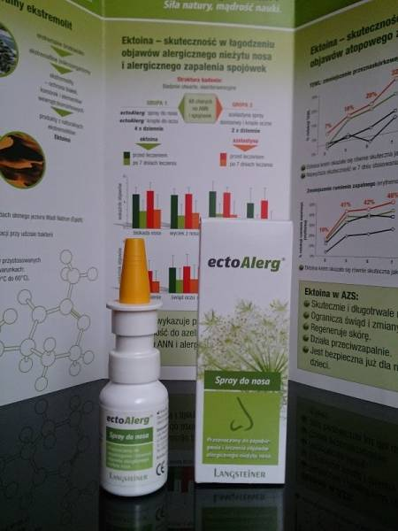 Testujemy ectoAlerg: krople do oczu oraz spray do nosa.