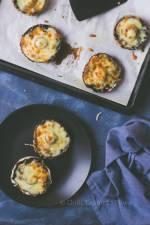 Pieczarki zapiekane z mozzarellą
