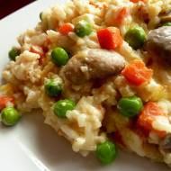 Zapiekanka ryżowa z warzywami