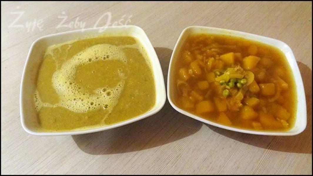 Zupa dyniowa z groszkiem