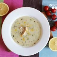 Zupa cytrynowa z kurczakiem i estragonem