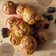 Muffiny bananowo - czekoladowe