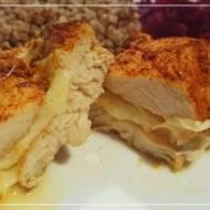 Pieczony kurczak z mozzarellą