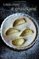 Lekkie ciasto z gruszkami/jabłkami