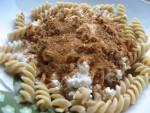 Pomysł na szybki obiad : razowy makaron z serem,jogurtem, cynamonem i cukrem trzcinowym