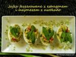 Jajka faszerowane z estragonem i majonezem z awokado