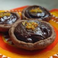 Tartaletki z czekoladą i pomarańczą