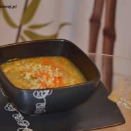 Dietetyczna zupa z warzywami, kurczakiem i ryżem