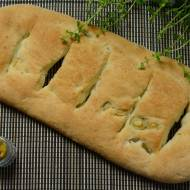 Fugasse z zielonymi oliwkami