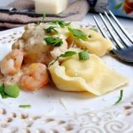 Tortelini z krewetkami i ricottą z sosem migdałowym