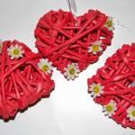 COŚ Z NICZEGO - Wiklinowe czerwone serce na Walentynki KROK PO KROKU