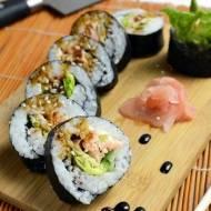 Sushi: Maki z pieczonym łososiem