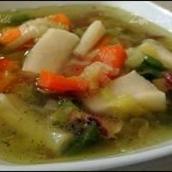 Zupa warzywna z boczkiem