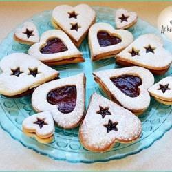Ciasteczka walentynkowe z marmoladą