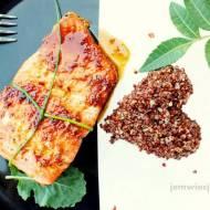 Walentynkowy, przesycony afrodyzjakami obiad z łososiem