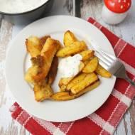 Fish & Chips - paluszki rybne, z domowymi frytkami z dodatkiem dipu koperkowego