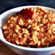Risotto pomidorowe z serkiem mascarpone