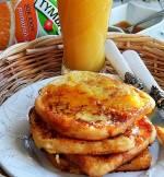 Pomarańczowe tosty francuskie z sokiem TYMBARK