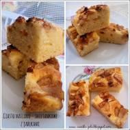 Ciasto maślano - śmietankowe z jabłkami
