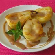 Karmelizowane gruszki z sosem piernikowym