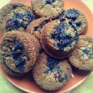 Wspaniałe, wiejskie muffinki żurawinowo-jagodowe