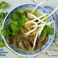 Zupa z grzybami shiitake