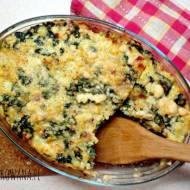 Zapiekanka ziemniaczana z gorgonzolą i jarmużem