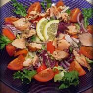 Sałatka z Łososiem- obiad w wersji fit