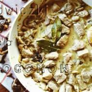 Polędwiczki wieprzowe w sosie grzybowo-musztardowym a'la Strogonow