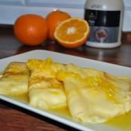 Naleśniki z białym serem i pomarańczami czyli tanie danie!