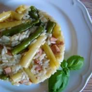 Kremowe risotto z fasolką szparagową