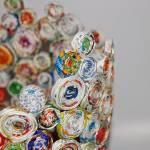 COŚ Z NICZEGO - Wazon z kółek z papierowej wikliny