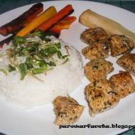 Szynka wieprzowa z ryżem jaśminowym z parowaru