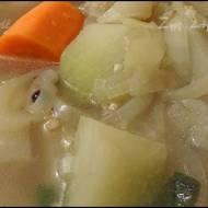 Zupa z kalarepy i fenkułu