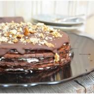 Czekoladowo smietankowy tort nalesnikowy, gryczany, bezglutenowy
