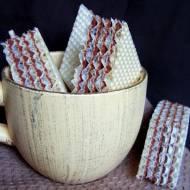 Wafle kakaowe z mlekiem w proszku