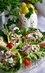 Wielkanocna sałatka z tuńczykiem