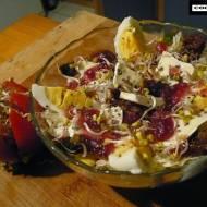 Sałatka z chia i kiełkami rzodkiewki