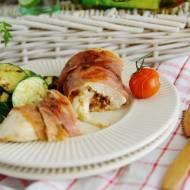 Grillowane piersi kurczaka z mozzarellą i pomidorami w kieszonce