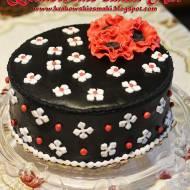 Czarno - biały tort