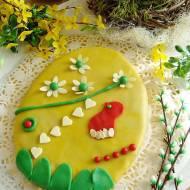 Mazurek Wielkanocne jajo marcepanowe